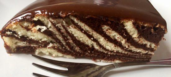Dwukolorowe ciasto z białek